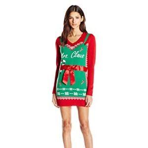 Mrs. Claus Christmas Sweater Dress